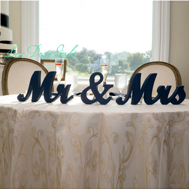 Large Wooden Signs Home Decor: Free Shipping Mr Mrs Wedding Table Signs For Sweetheart