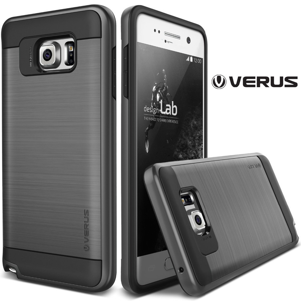 size 40 bd6d4 5bfbb VERUS Luxury Neo Hybrid Slim Armor Case For Samsung Galaxy Note 5 N9200  Silicone+PC Rubber Protective Phone Back Cover for Note5