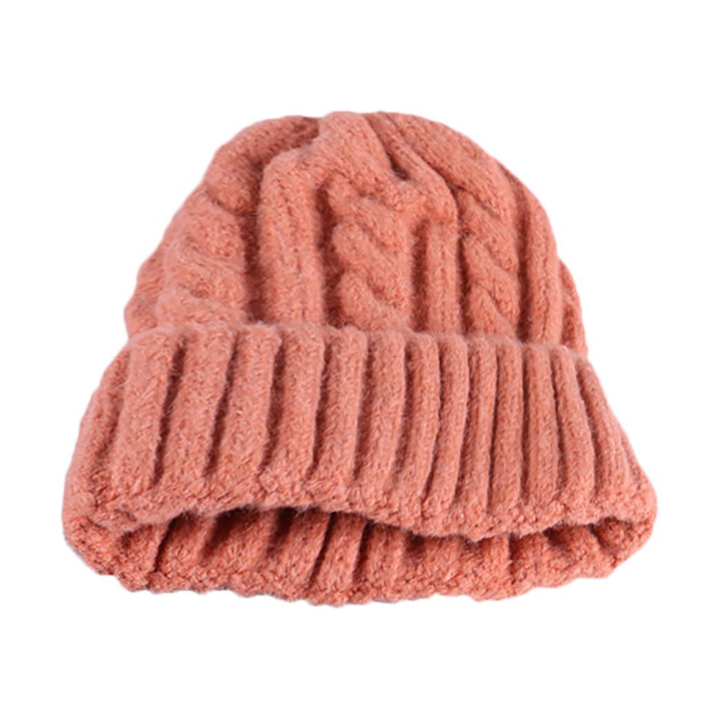 fef7d7b175e 2019 Hats Woman Bonnet Femme Winter Warm Candy Colors Knitted Sleeve ...