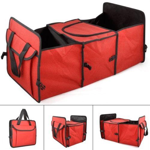 Красный 2 in1 багажнике торговый аккуратный тяжелых складной ящик для хранения