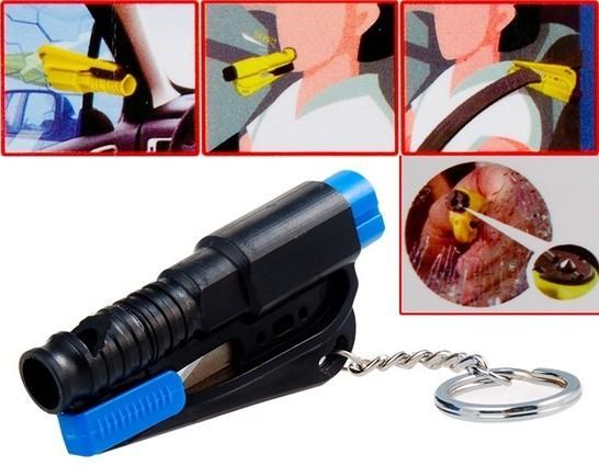 4 в 1 мини-брелок, Безопасности молоток, Ножницы и свисток спасения комплект инструментов