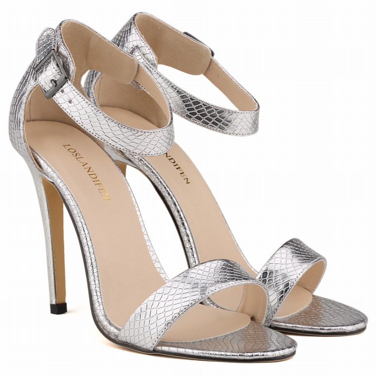 fbf14d5498a2 Women Ladies Sexy Party Open Toe Ankle Straps Sandals High Heels Snake Skin  Leopard Pumps Sandalias Sapatos Femininos D0084 Women Shoes Shoes High Heels  ...