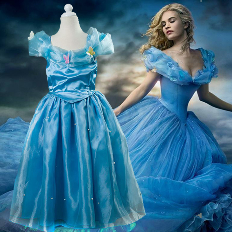 New Nip Disney Baby Girls Halloween Cinderella Costume 6: Cinderella-Princess-Dress-Kids-Halloween-Christmas-Cosplay