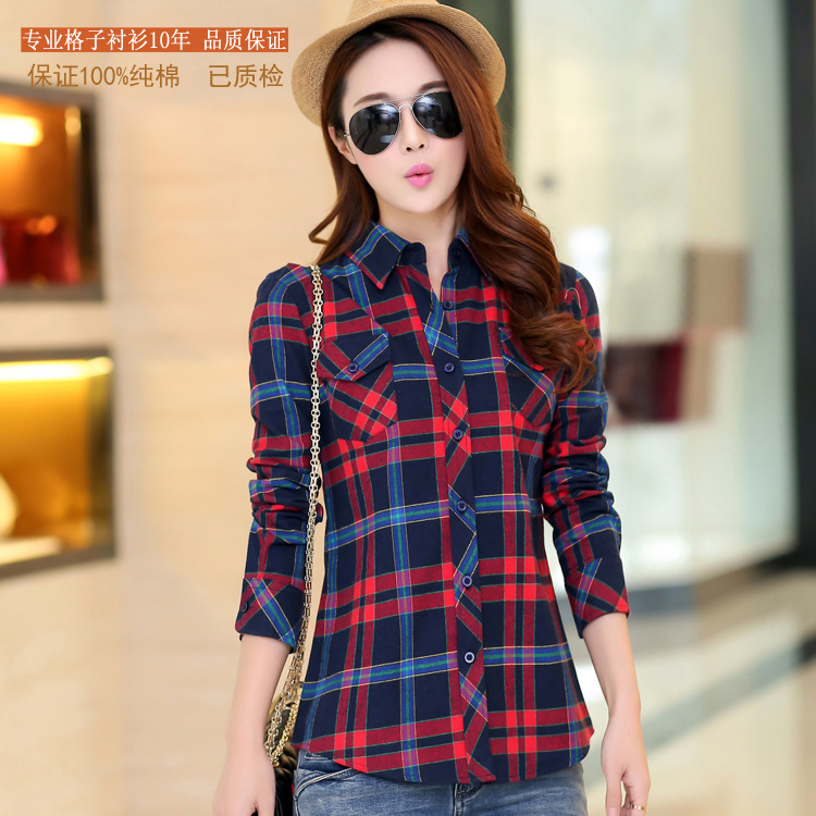 In the spring of 2015 women's new Korean fashion blouse ...
