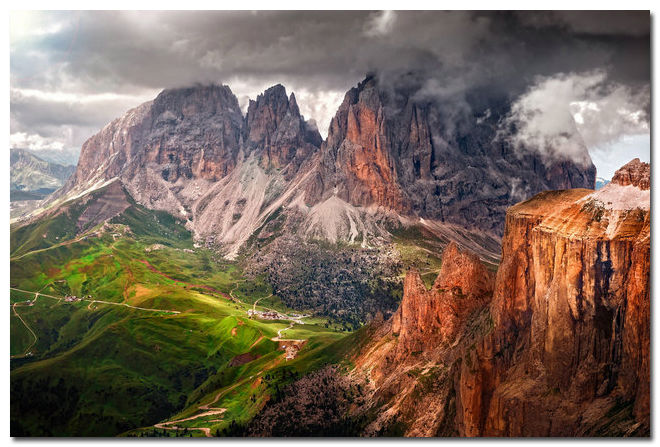 Mountains Of The Alps Nature Art Silk Poster Modern Home Decor 60x90cm
