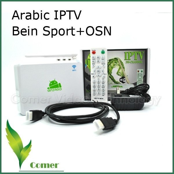 Free shipping Free Arabic IPTV Box,  Arabic Channel TV Box with 400 channel  includes bein aport and mbc