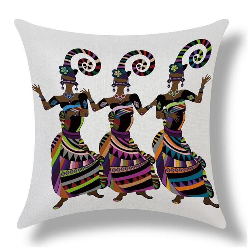 MYJ Retro <font><b>Bohemian</b></font> Style Totem Printed <font><b>Decor</b></font> Cushion Pillow Almofada <font><b>Home</b></font> Linen Cotton Throw Pillow Cushions print your name