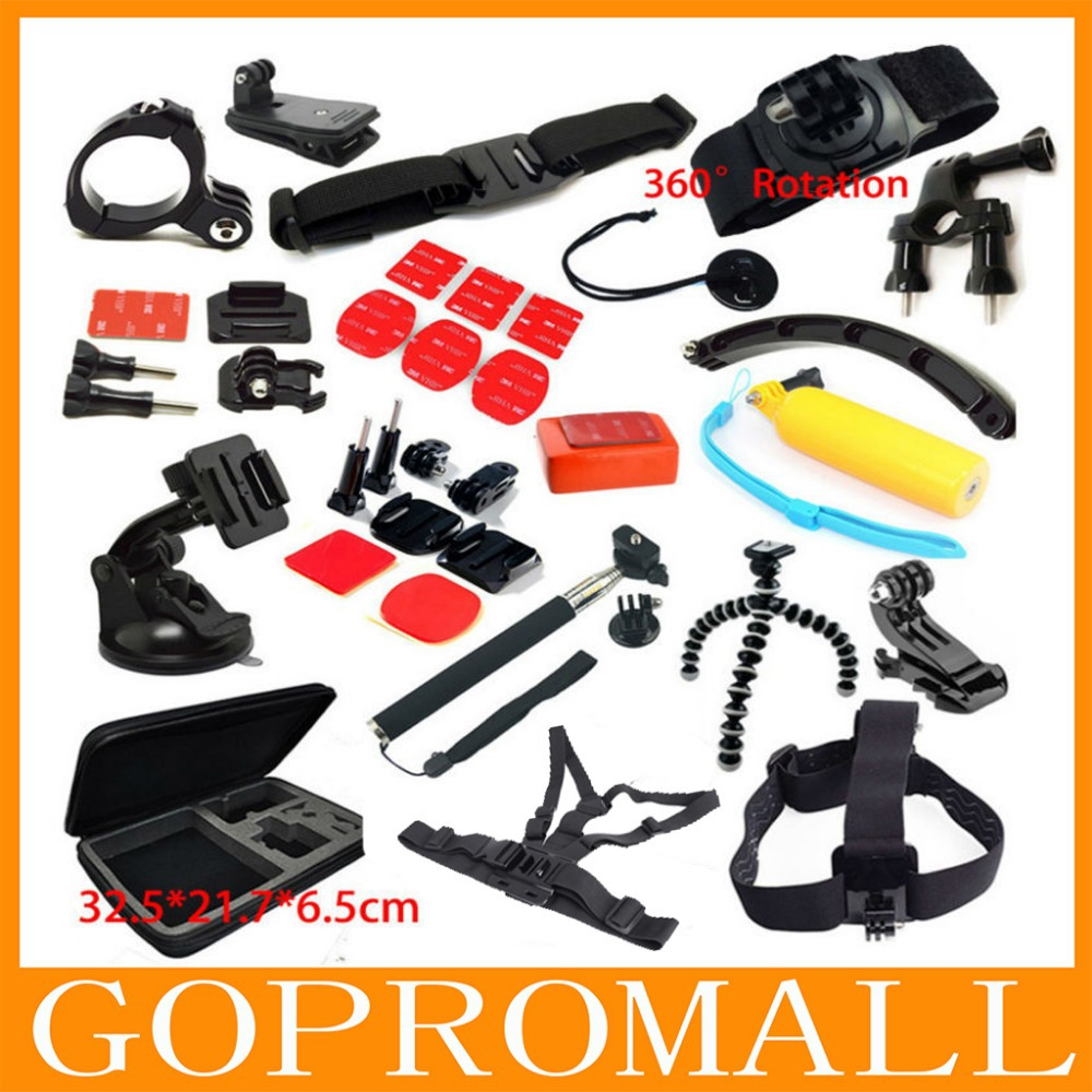 Go Pro Hero 4 3 3+ Full Accessories Mount Digital Mini Camera Tripod Bag Chest