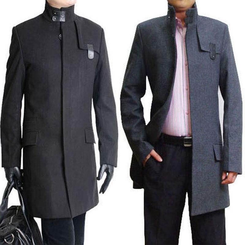 Sale 2015 New Winter coats men's Wool dust coat Turtleneck