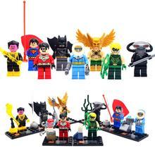 New Hot 8pcs lot Super Hero Kid Baby Toy Mini Figure Building Blocks Sets Model Toys