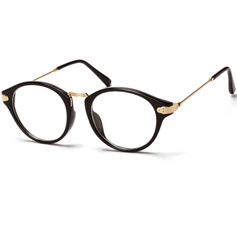 846c2923e271 Retro Round Metal Eyeglasses