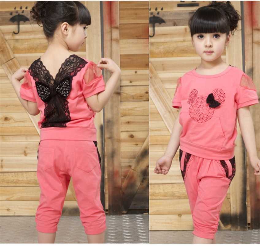 minnie mouse clothing new 2016 kids girl clothes set girls clothing set sport suit lace summer