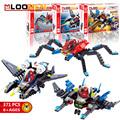 Cool Super Hero Airship Building Blocks Spiderman DIY Model Building Blocks educational toys for Children