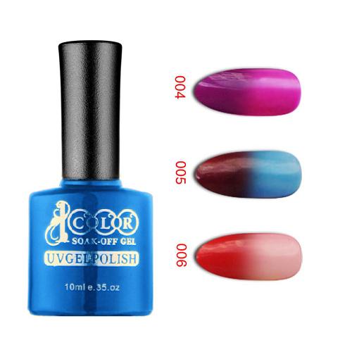 12pcs Color 1000 Professional Soak Off Color Changing LED UV Nail Gel polish 10ml 12 colors