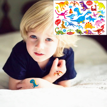 Cute Dinosaurs Child Temporary Flash Tattoo Body Art Sticker 17*10cm Waterproof Henna Tatoo EN71 Quality Product FREE SHIPPING