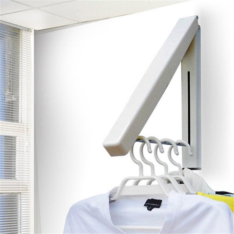 Stainless Steel Wall Hanger Retractable Indoor Clothes