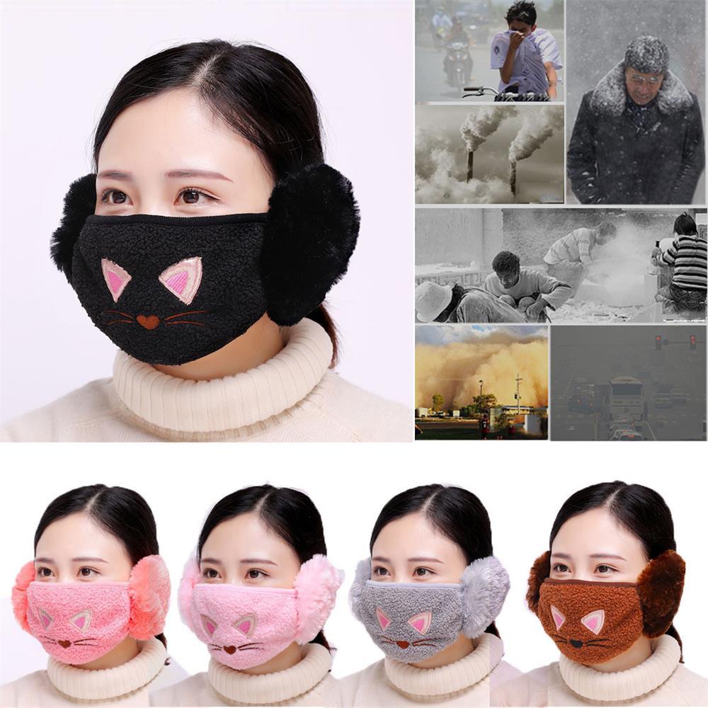 2019 Women Winter Face Mask Windproof Lovely Cache Warmer Cute ... dc0d7820e3