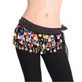 High Quality Dancing Coin Chain Sequin Belly Dance Hip Skirt Scarf Wrap Belt Waistband