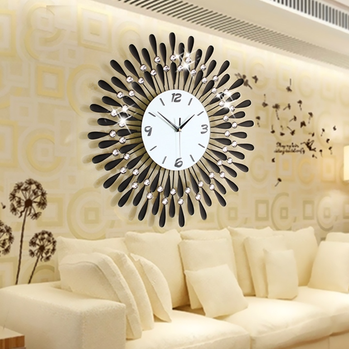 Home Decoration Wall Clock Modern Living Room Large Wall