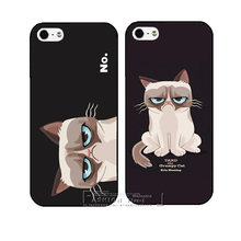 New Arrive Super Hot Grumpy Cute Cat Hard Case Cover for Apple iPhone 4 4S 4G 5 5S 5G 5C 6 6 Plus Free Shipping Shell
