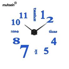 2016 new arrival quartz diy modern font b clocks b font needle acrylic watches big wall