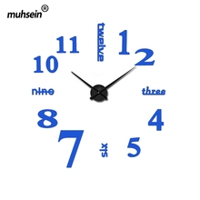 2016 new arrival quartz diy modern clocks needle acrylic watches big wall clock mirror sticker living room decor free shipping