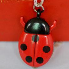 Новые креативные модные маленькие карманные часы Божья коровка модные аксессуары карманные часы милые с роскошным ожерельем(Китай)