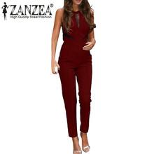 New Zanzea Bodycon Jumpsuits 2015 Womens Sleeveless Lace Patchwork Rompers Playsuits Black Pants Plus Size XS-4XL Hot Sale
