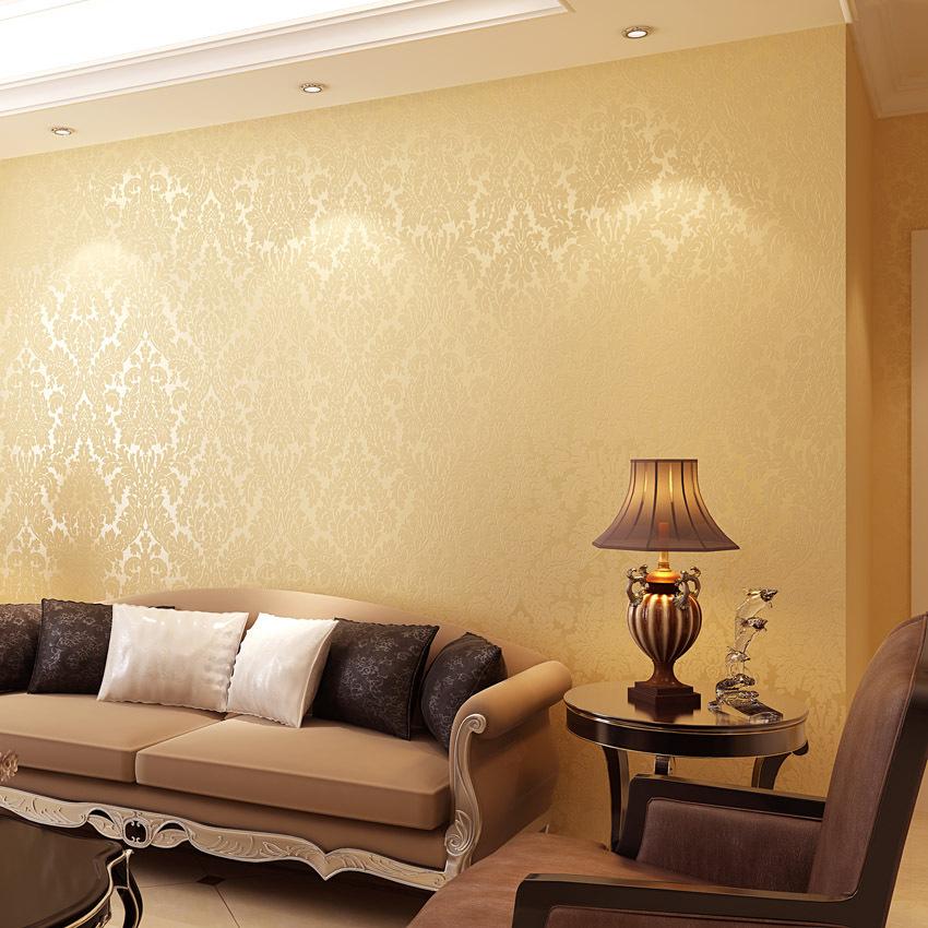 koyle european style damask papel de parede 3d bedroom room glitter wallpaper wall paper tapete. Black Bedroom Furniture Sets. Home Design Ideas