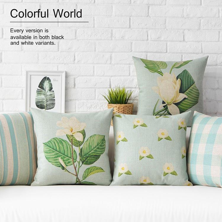 Free Shipping Linen Throw Pillow Hot Sale New Fashion Wedding Decor 45cm Fresh Blue Rural Nodic Home Office Sofa Car Cushion