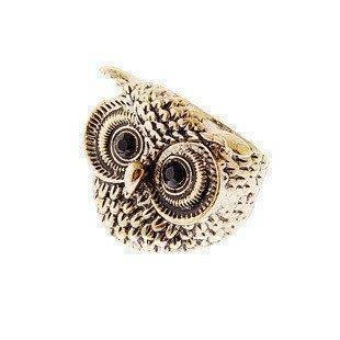 Hot Sales cute Owl Ring Ancient Retro cute owl ring jewelry gift Free shipping