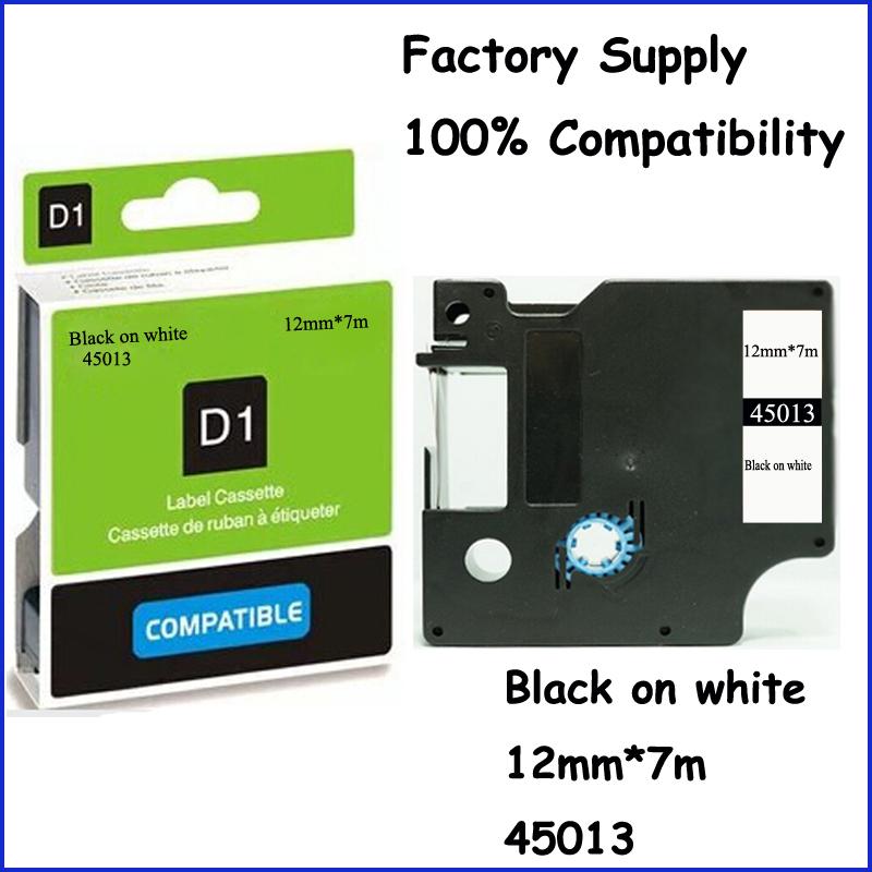 3PCS Compatible Dymo Labelmanager 12mm D1 Black On White