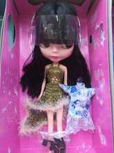 Blyth меняющая макияж кукла ледяная Обнаженная кукла Blyth с 2 комплектами одежды + обувь подходит для платья DIY Изменение BJD игрушка для девочек З...(Китай)