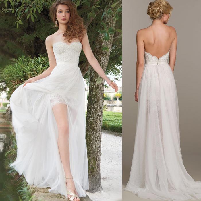 Wedding Dresses Short In Front Longer Back 12