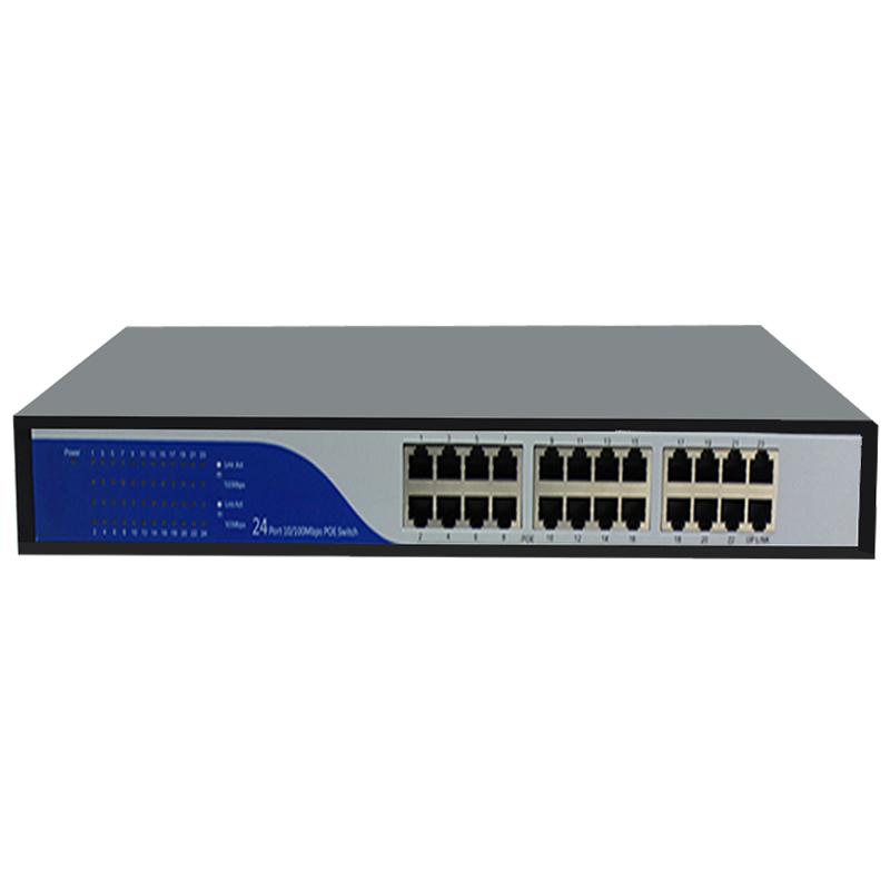 1U rack 19 24 port switch poe 24v power supply for Ubiquiti UniFi Nanostation Mikrotik CPE