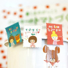 4Sheets / Pack New Fashion Theme Paper Stamp Sticker Diary Decorative Stickers Affixed H0189