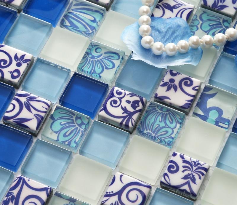 Aliexpress.com : Buy Blue Printed Puzzle Flower Mosaic