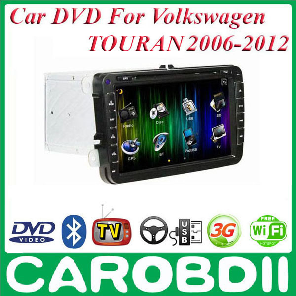 volkswagen vw touran android car dvd gps radio player 2006. Black Bedroom Furniture Sets. Home Design Ideas