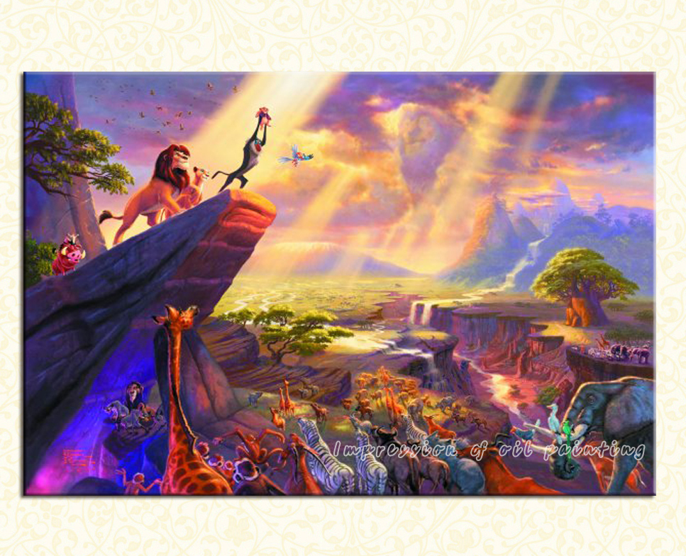 The Lion King Thomas kinkade prints famous oil painting ...