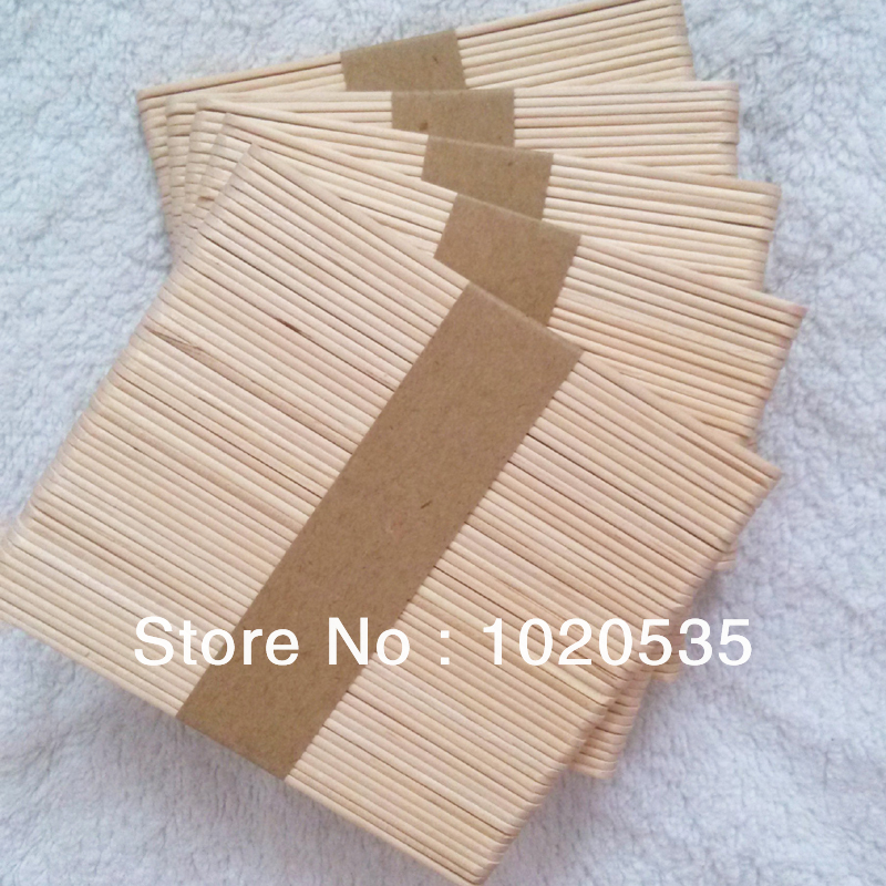 300 pcs b tons de popsicle bricolage craft outil spatule en bois en bois cr me glac e. Black Bedroom Furniture Sets. Home Design Ideas