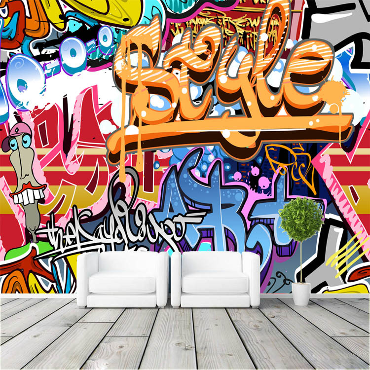 Graffiti Bedroom Art Paint Colors For Bedroom Youth Bedroom Sets Simple Little Boy Bedroom Ideas: Graffiti Boys Urban Art Photo Wallpaper Popular Wallpaper