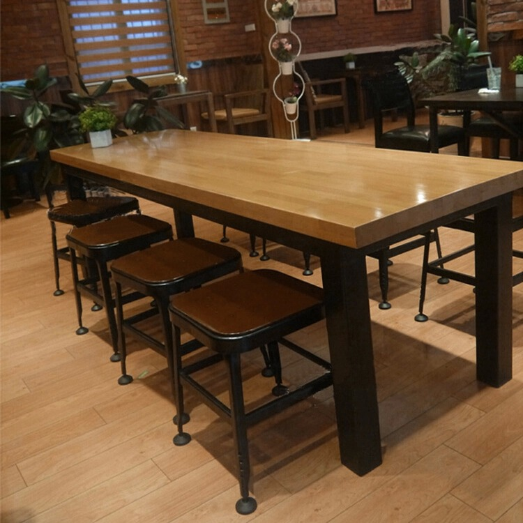 american starbucks iron wood tables to do the old european style retro bar clubs restaurant bar. Black Bedroom Furniture Sets. Home Design Ideas