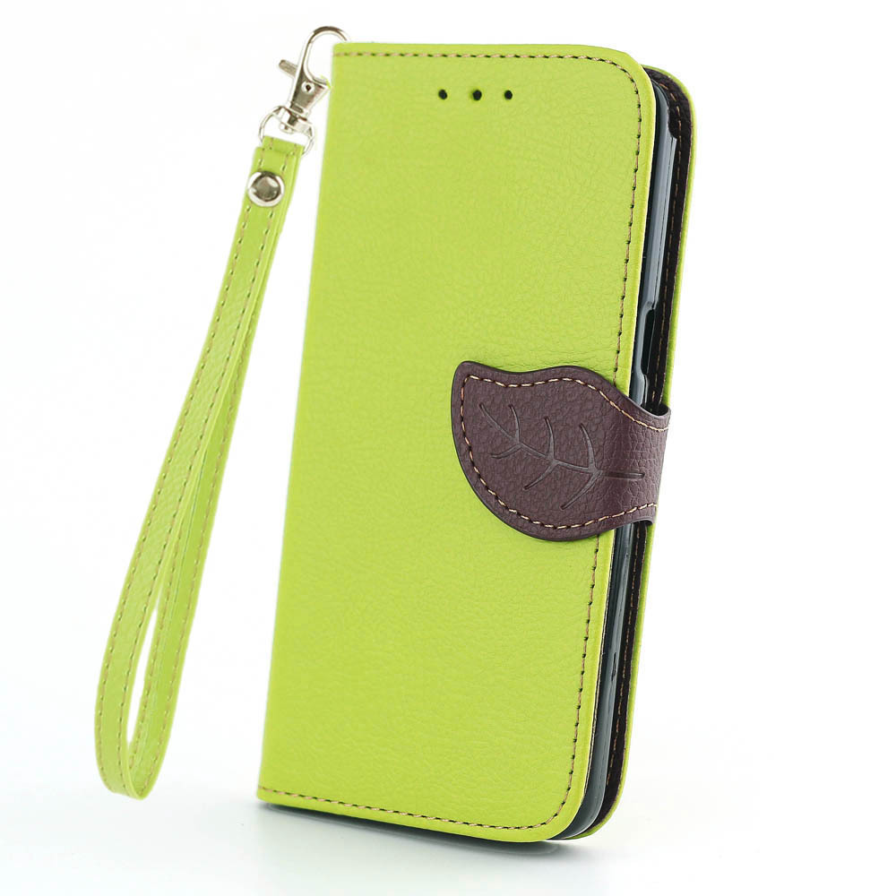 save off 1a6fc a646c Leaf Design Wallet Leather Flip Case Cover for Samsung Galaxy Grand Prime  G530 G530h G5308w Cell Phone Cases with Stand