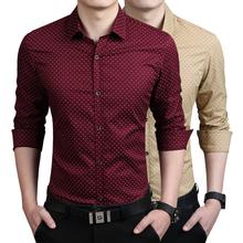 New 2015 Men's Shirts Casual brand slim fit designer print Shirts men green Fashion Clothing