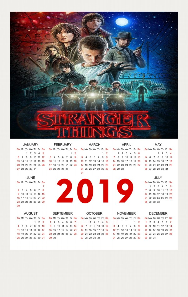 Calendario Stranger Things.Calendar Poster 2019 In Science Family Shop Bedroom Decoration Wall Poster Buy 3 Get 4