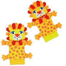 Мягкие Детские носки Sozzy с ремешком на запястье, плюшевая погремушка с мультипликационным принтом и кольцом, 2 шт.(Китай)