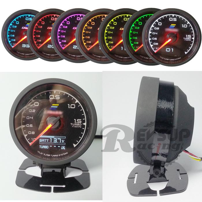 7-Color-in-1 гонки калибр Gr ** ду нескольких D / A жк-цифровой дисплей турбо манометр наддува