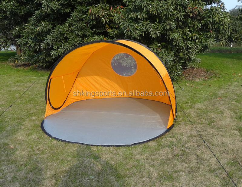 wholesale easy cheap pop up tent for camping yellow color ksf b2006. Black Bedroom Furniture Sets. Home Design Ideas