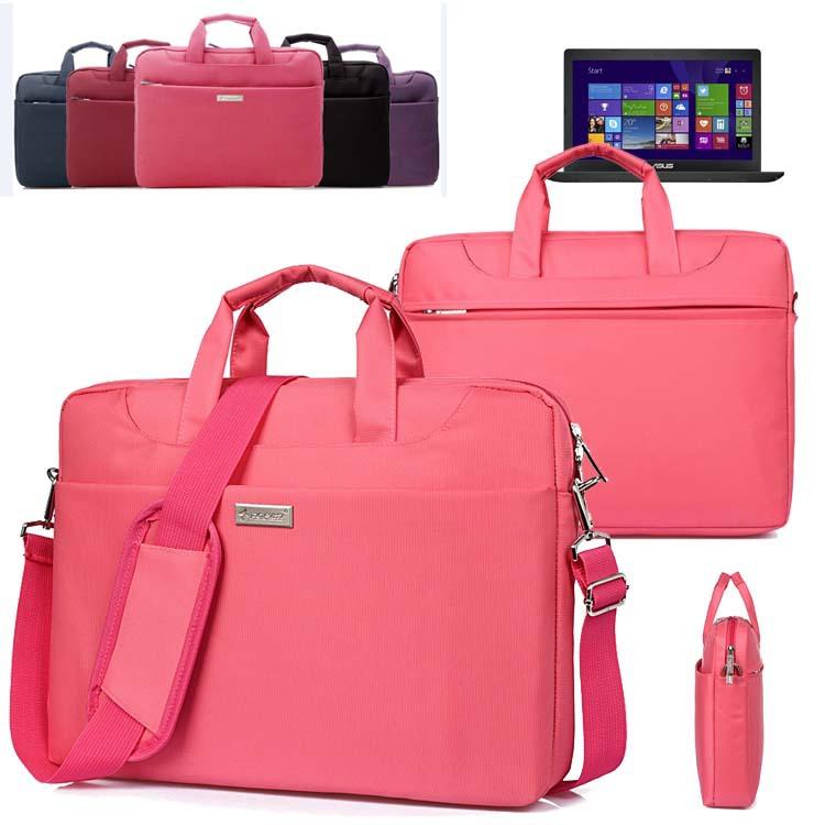 Soft Nylon Waterproof Laptop Case Sleeve Shoulder Bag Briefcase w/ Pocket & Handle for ASUS X551MAV/ X551MA/ X551CA/ X551 15.6''