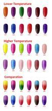 12pcs VOG fashional Temperature Change UV gel nail polish 15ml 12colors for choices